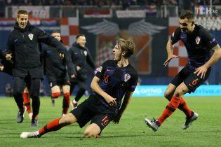 Лига наций. Хорватия на последних минутах смогла в невероятном матче переиграть Испанию