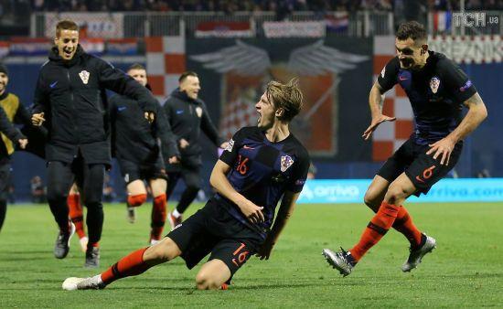 Ліга націй. Хорватія на останніх хвилинах спромоглася в неймовірному матчі переграти Іспанію