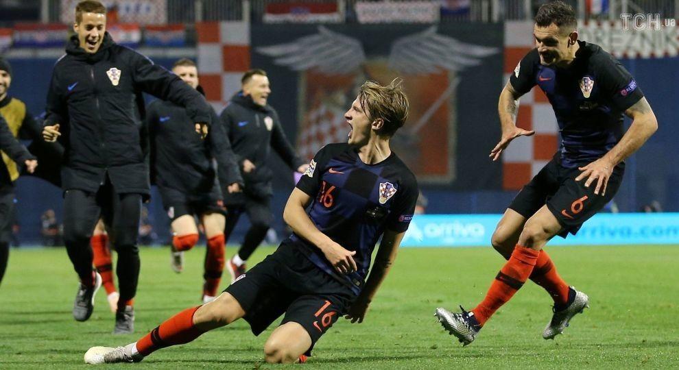 Лига наций. Хорватия в невероятном матче переиграла Испанию
