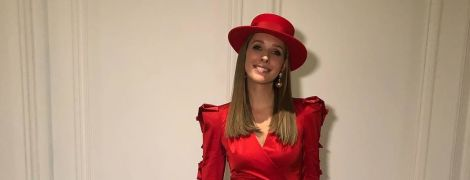 В червоній сукні з розрізом і в капелюсі: елегантна Катя Осадча на церемонії BFA