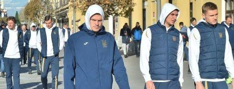 Футболісти збірної України прогулялися сонячною Трнавою перед матчем зі Словаччиною
