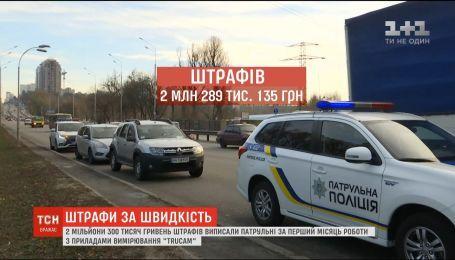 Патрульні за місяць роботи з TruCam виписали штрафів на 2 мільйони гривень