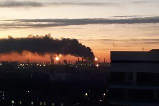 В Москві загорівся нафтопереробний завод