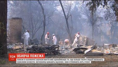 Пожар в Калифорнии: более тысячи жителей пропали без вести