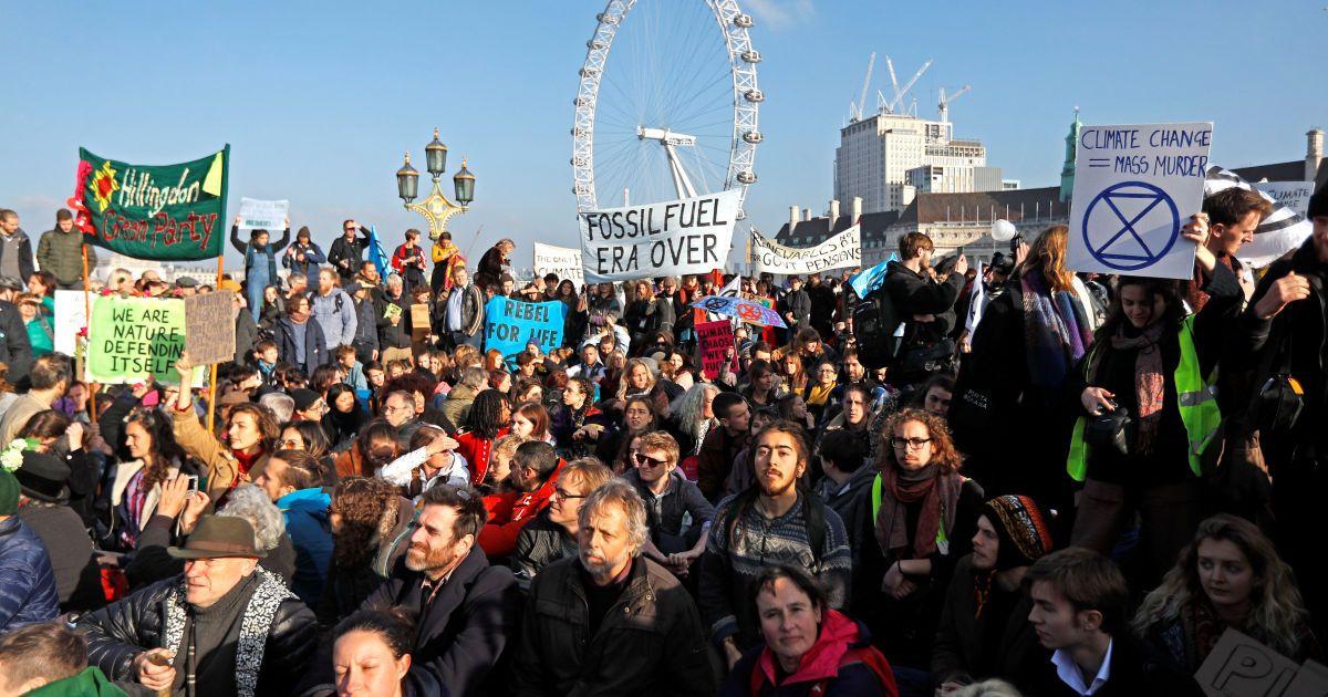 Акция защитников природы в Лондоне