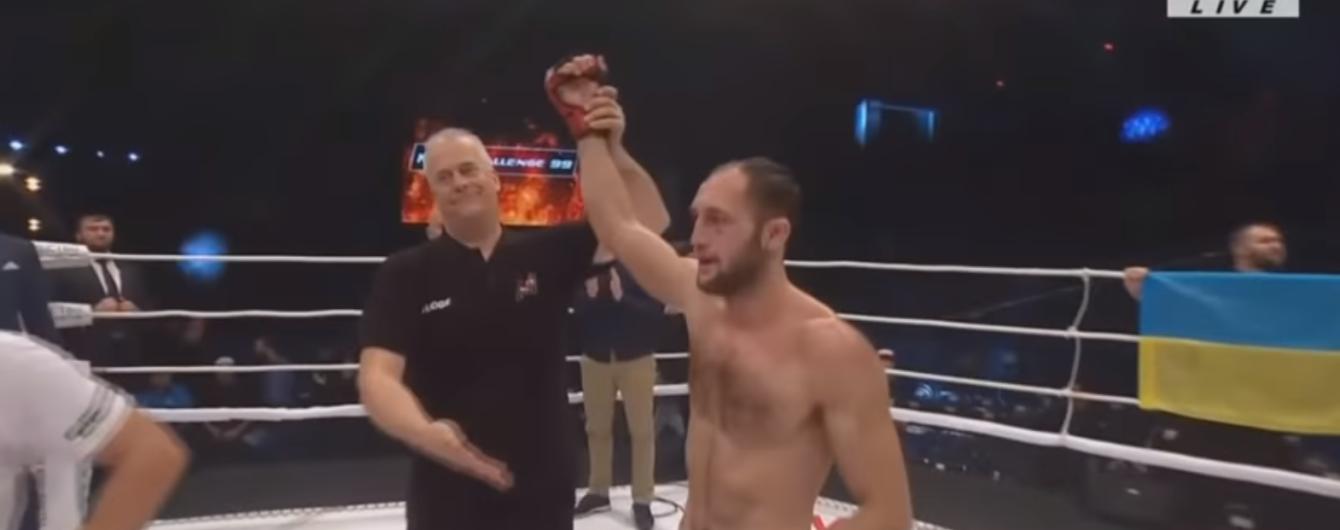 Український боєць MMA здолав досвідченого суперника на змаганнях в Росії