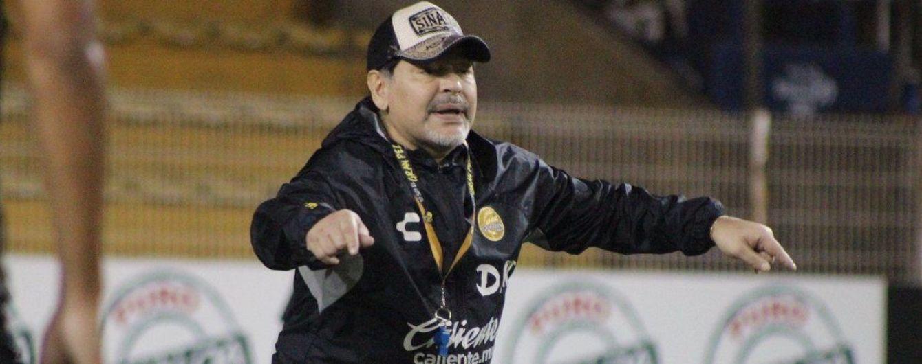 Марадона шалено відсвяткував вихід до півфіналу плей-оф Чемпіонату Мексики