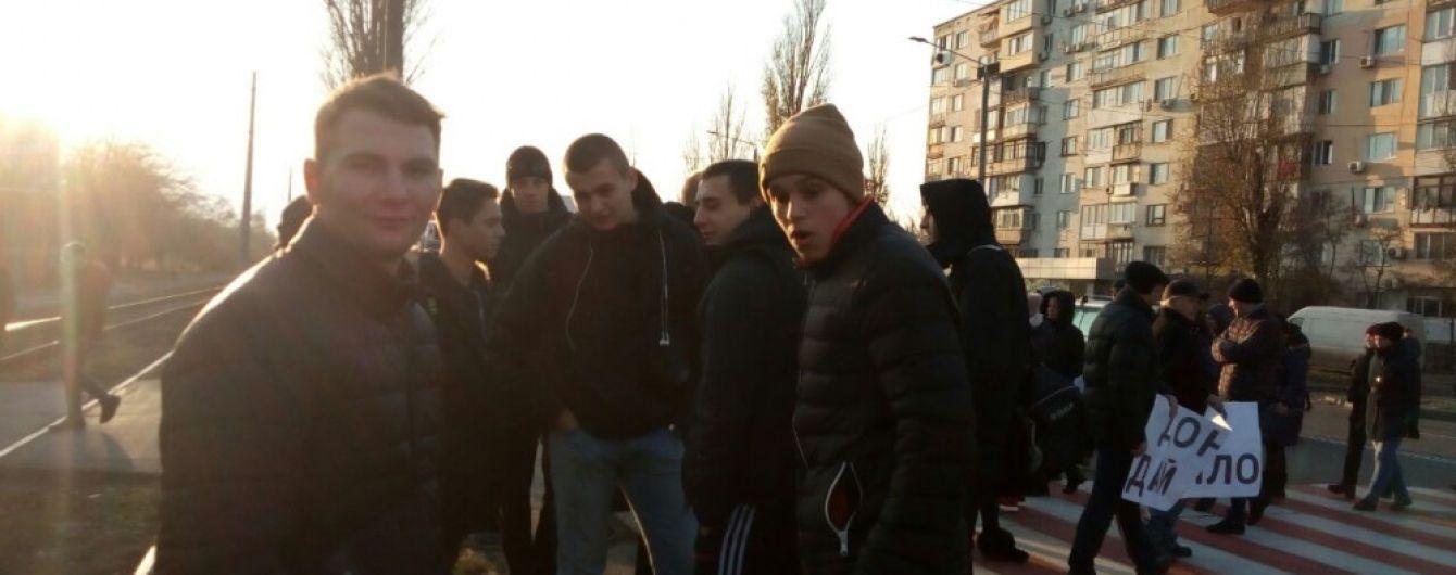В Одессе жители перекрыли две дороги из-за отсутствия отопления