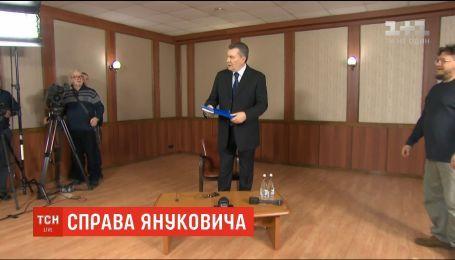 Янукович не виступить в Оболонському суді через травму