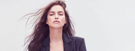 Это очень сексуально: Ирина Шейк в боди, ботфортах и кожаной куртке позировала для глянца
