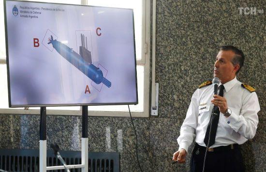 ВМС Аргентини показали фото затонулого рік тому підводного човна San Juan