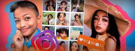 Из юноши в девушку. Как 12-летний мальчик из Таиланда заработал на дом необычным макияжем в Instagram