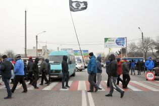 """""""Укравтодор"""" назвал важные шоссе, которые заблокированы владельцами """"евроблях"""""""