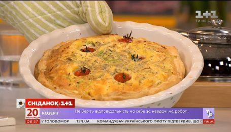 Киш с сыром и томатами от Руслана Сеничкина