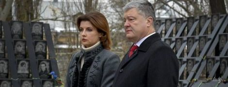Стримана і елегантна: Марина Порошенко на церемонії пам'яті героїв Небесної сотні