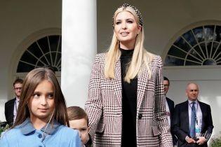В клетчатом пальто и обруче в горох: Иванка Трамп на церемонии помилования индеек