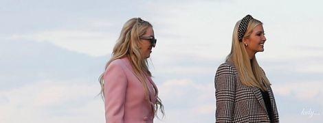 У рожевому блейзері, мереживній сукні і золотих туфлях: ефектний образ Тіффані Трамп