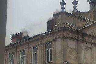 Во Львове загорелась областная клиническая больница
