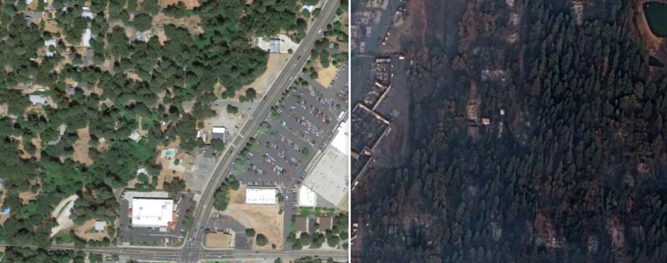 Как Рай стал пустым пепелищем. Фото до и после самого страшного пожара в истории Калифорнии