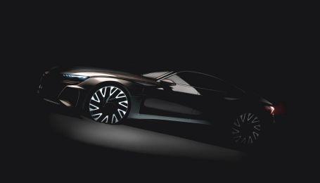 Спортивный электрокар Audi e-tron GT засветили на тизере