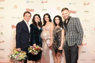 Дмитро Комаров, Лідія Таран і вагітна Валентина Хамайко подарували кришталеву зірку журналу Viva!