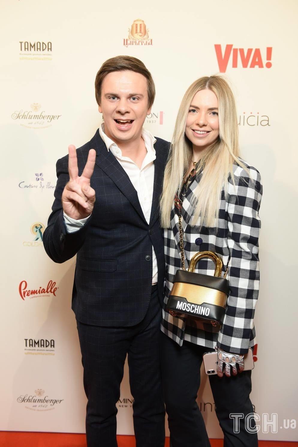 Дмитро Комаров із сестрою Ангеліною