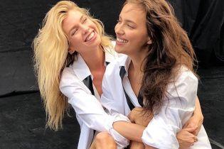В білих сорочках і майже без макіяжу: Шейк і Максвелл разом позували для глянцю