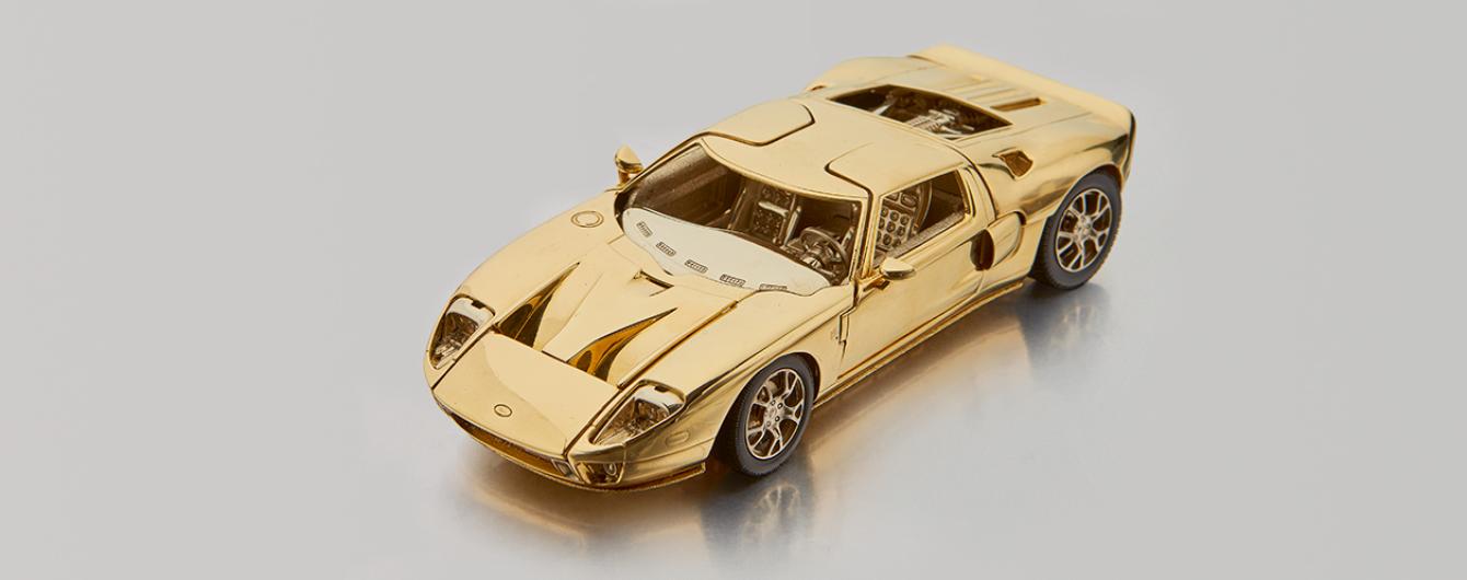 Модель спорткара Ford GT из золота пустят с молотка