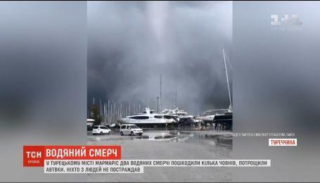В Турции пронеслись два водяных смерчи