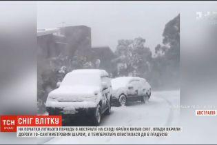 В Австралії на початку літнього періоду випав сніг
