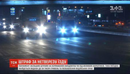 Нові штрафи: за кермування напідпитку водія змусять сплатити від 17 до 34 тисяч гривень
