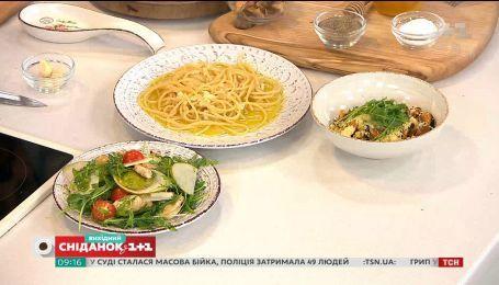 Салат с топинамбуром, паста и кускус с мидиями - три блюда за 15 минут от Евгения Клопотенка