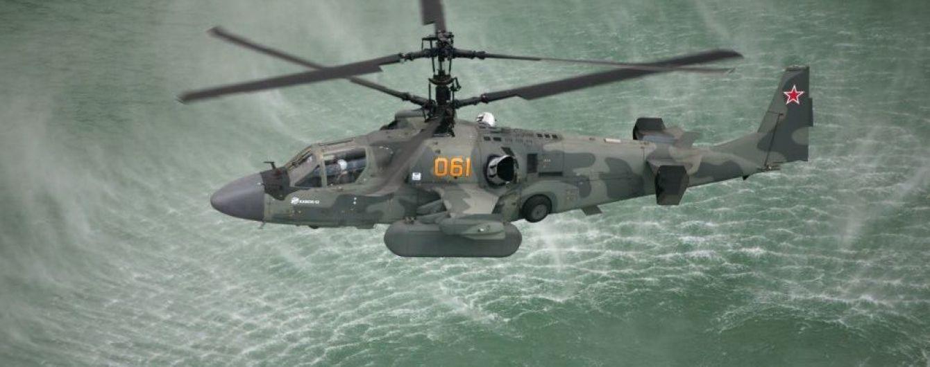 Россия отправила ударные вертолеты в Керченский пролив, где ожидают прохода украинские корабли