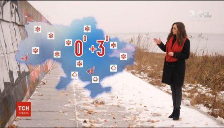 Синоптики прогнозують сніг і ожеледицю на початку тижня