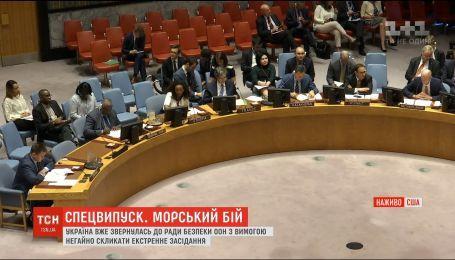 Украина обратилась в Совбез ООН с требованием созвать экстренное заседание