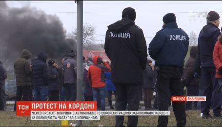 Пункти пропуску до Польщі, Угорщини та Словаччини залишаються частково заблокованими