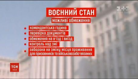 Що чекає на українців у разі запровадження воєнного стану