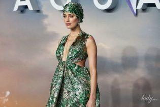 В кутюрном платье с глубоким декольте: Эмбер Херд на премьере фильма в Лондоне