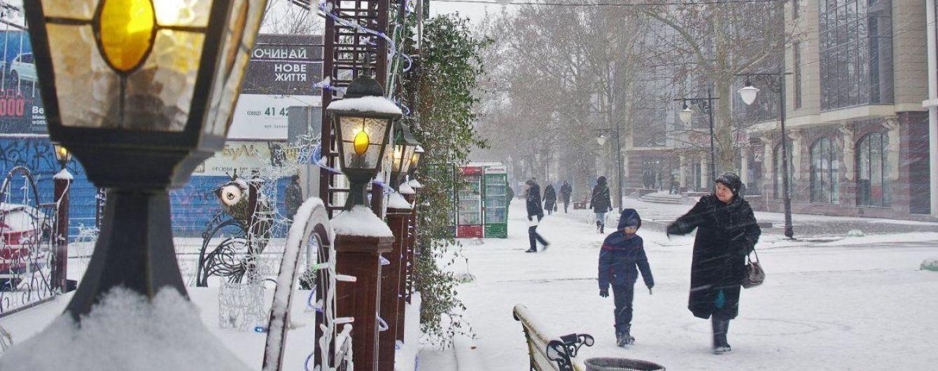 До України на зміну снігопадам сунуть сильні нічні морози. Прогноз погоди до кінця тижня