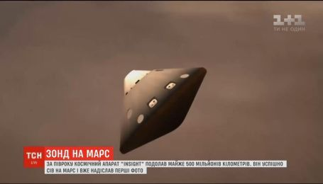 Місія успішна: зонд космічної агенції NASA вдало сів на Марсі