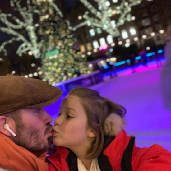 На Девіда Бекхема обрушилася критика через поцілунок з донькою в губи