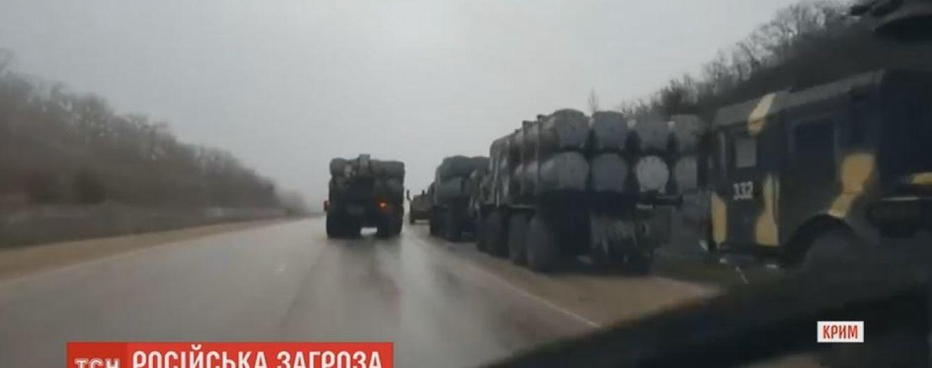 Россия стягивает в Крым военную технику