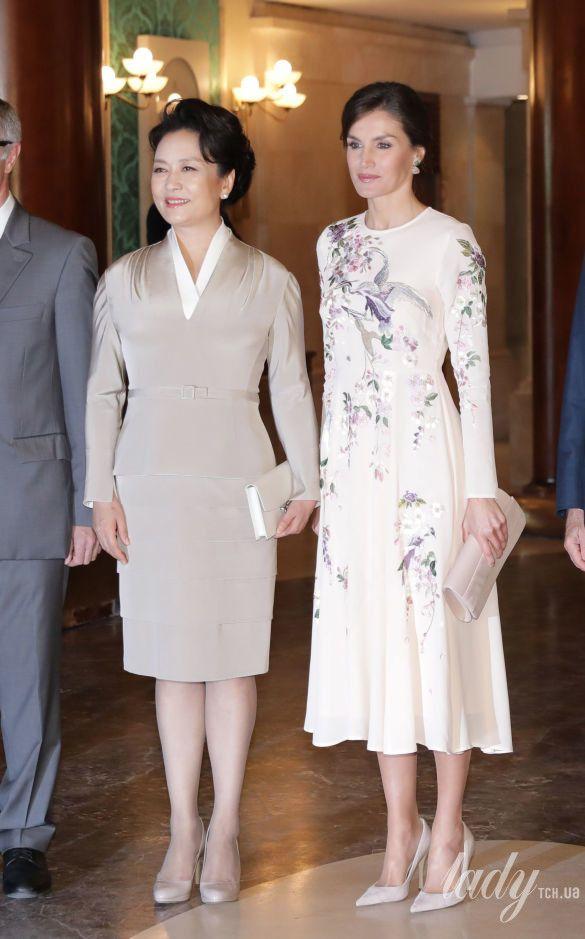 Королева Летиция и первая леди Китая