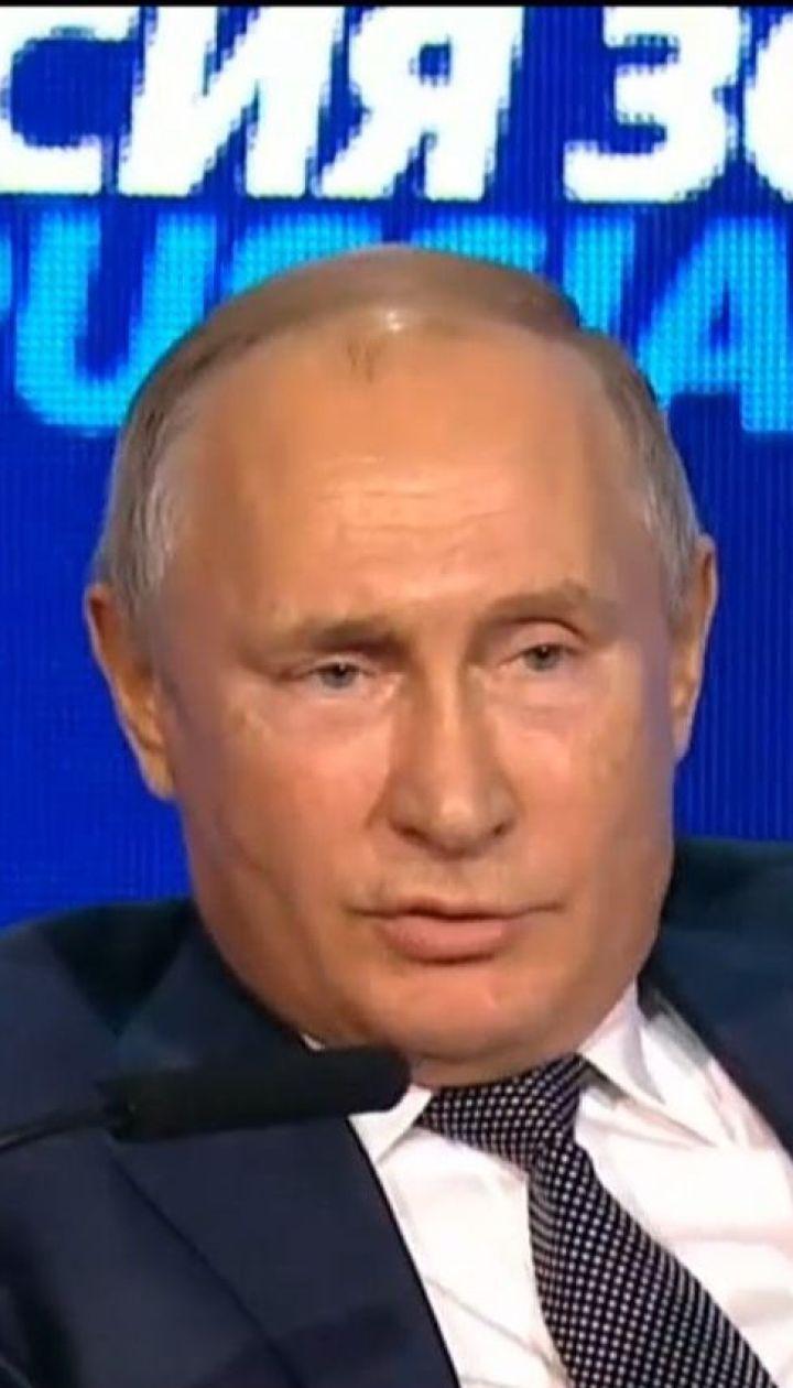 Путін висловив антиукраїнську тезу про немовлят на сніданок