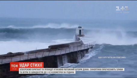 """""""Діана"""" атакує: узбережжя Британії та Ірландії накрив потужний шторм"""