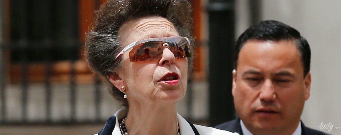 Хороша в білому: 68-річна принцеса Анна у елегантному вбранні зустрілася з президентом Чилі