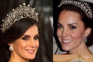 Битва жемчужных тиар: королева Летиция vs герцогиня Кембриджская и принцесса Диана