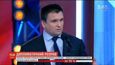 Украина разорвет около 40 договоров с Россией - Климкин