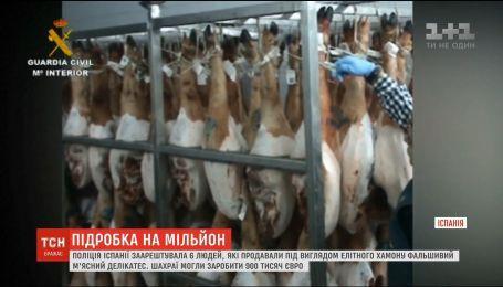 В Испании злоумышленники продавали под видом элитного хамона фальшивый мясной деликатес