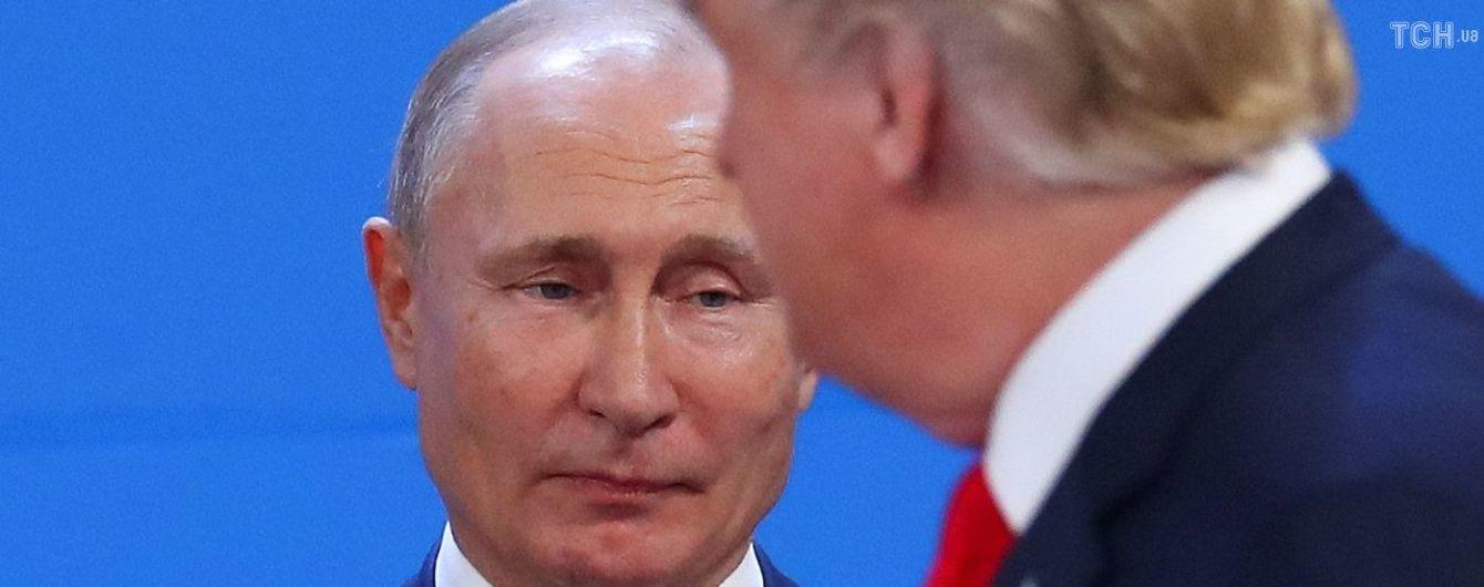 """У Білому домі заперечили навіть коротку зустріч Трампа і Путіна. У МЗС РФ звинувачують """"русофобську"""" Україну"""